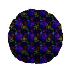 Circles Color Yellow Purple Blu Pink Orange Standard 15  Premium Flano Round Cushions by Alisyart