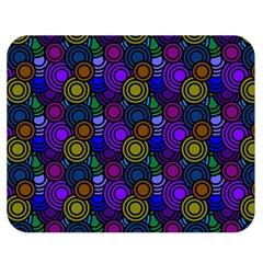 Circles Color Yellow Purple Blu Pink Orange Double Sided Flano Blanket (medium)  by Alisyart