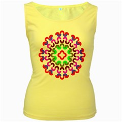 Decoration Red Blue Pink Purple Green Rainbow Women s Yellow Tank Top by Alisyart