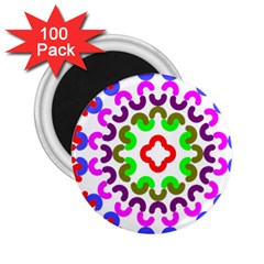 Decoration Red Blue Pink Purple Green Rainbow 2 25  Magnets (100 Pack)  by Alisyart