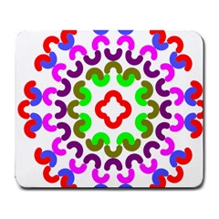 Decoration Red Blue Pink Purple Green Rainbow Large Mousepads by Alisyart