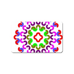 Decoration Red Blue Pink Purple Green Rainbow Magnet (name Card) by Alisyart