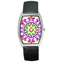 Decoration Red Blue Pink Purple Green Rainbow Barrel Style Metal Watch by Alisyart