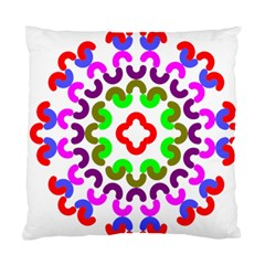 Decoration Red Blue Pink Purple Green Rainbow Standard Cushion Case (two Sides) by Alisyart