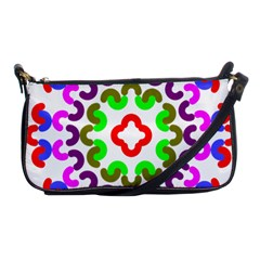 Decoration Red Blue Pink Purple Green Rainbow Shoulder Clutch Bags by Alisyart