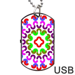 Decoration Red Blue Pink Purple Green Rainbow Dog Tag Usb Flash (one Side) by Alisyart