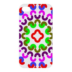 Decoration Red Blue Pink Purple Green Rainbow Apple Iphone 4/4s Hardshell Case by Alisyart