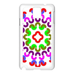 Decoration Red Blue Pink Purple Green Rainbow Samsung Galaxy Note 3 N9005 Case (white) by Alisyart