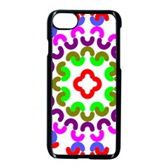 Decoration Red Blue Pink Purple Green Rainbow Apple Iphone 7 Seamless Case (black) by Alisyart