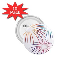 Fireworks Orange Blue Red Pink Purple 1 75  Buttons (10 Pack) by Alisyart