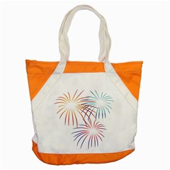 Fireworks Orange Blue Red Pink Purple Accent Tote Bag by Alisyart