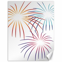Fireworks Orange Blue Red Pink Purple Canvas 18  X 24   by Alisyart