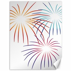 Fireworks Orange Blue Red Pink Purple Canvas 36  X 48   by Alisyart