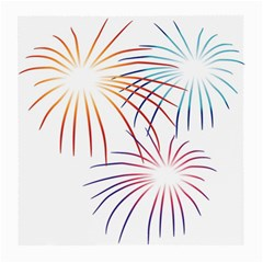 Fireworks Orange Blue Red Pink Purple Medium Glasses Cloth (2 Side) by Alisyart