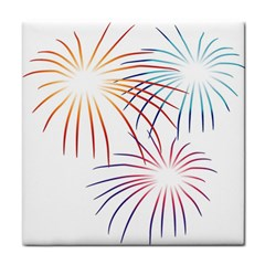 Fireworks Orange Blue Red Pink Purple Face Towel by Alisyart