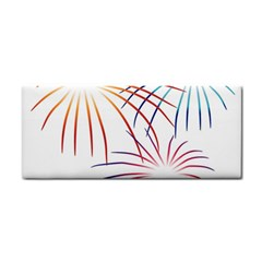 Fireworks Orange Blue Red Pink Purple Cosmetic Storage Cases by Alisyart