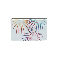 Fireworks Orange Blue Red Pink Purple Cosmetic Bag (small)  by Alisyart