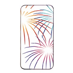 Fireworks Orange Blue Red Pink Purple Apple Iphone 4/4s Seamless Case (black) by Alisyart