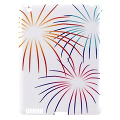 Fireworks Orange Blue Red Pink Purple Apple Ipad 3/4 Hardshell Case (compatible With Smart Cover) by Alisyart