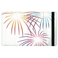 Fireworks Orange Blue Red Pink Purple Apple Ipad 3/4 Flip Case by Alisyart