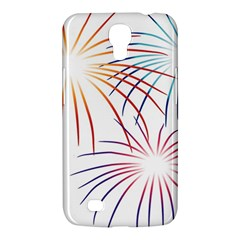 Fireworks Orange Blue Red Pink Purple Samsung Galaxy Mega 6 3  I9200 Hardshell Case by Alisyart