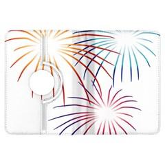 Fireworks Orange Blue Red Pink Purple Kindle Fire Hdx Flip 360 Case by Alisyart
