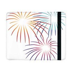 Fireworks Orange Blue Red Pink Purple Samsung Galaxy Tab Pro 8 4  Flip Case by Alisyart