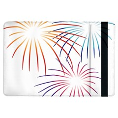 Fireworks Orange Blue Red Pink Purple Ipad Air Flip by Alisyart