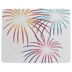 Fireworks Orange Blue Red Pink Purple Jigsaw Puzzle Photo Stand (rectangular) by Alisyart