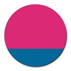 Flag Color Pink Blue Round Mousepads by Alisyart
