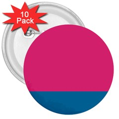 Flag Color Pink Blue 3  Buttons (10 Pack)  by Alisyart