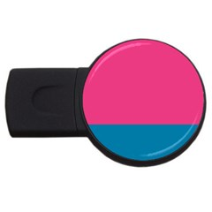 Flag Color Pink Blue Usb Flash Drive Round (4 Gb) by Alisyart