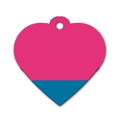 Flag Color Pink Blue Dog Tag Heart (two Sides) by Alisyart
