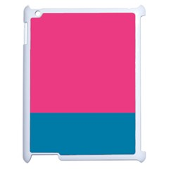 Flag Color Pink Blue Apple Ipad 2 Case (white) by Alisyart