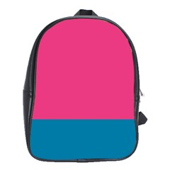 Flag Color Pink Blue School Bags (xl)  by Alisyart