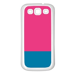 Flag Color Pink Blue Samsung Galaxy S3 Back Case (white) by Alisyart
