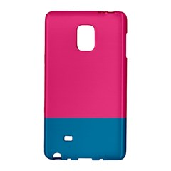 Flag Color Pink Blue Galaxy Note Edge by Alisyart