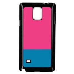 Flag Color Pink Blue Samsung Galaxy Note 4 Case (black) by Alisyart