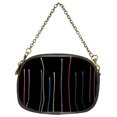 Falling Light Lines Color Pink Blue Yellow Chain Purses (two Sides)  by Alisyart