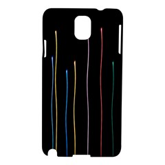 Falling Light Lines Color Pink Blue Yellow Samsung Galaxy Note 3 N9005 Hardshell Case by Alisyart