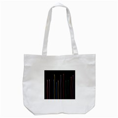 Falling Light Lines Color Pink Blue Yellow Tote Bag (white) by Alisyart