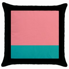 Flag Color Pink Blue Line Throw Pillow Case (black) by Alisyart