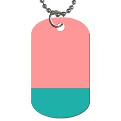 Flag Color Pink Blue Line Dog Tag (one Side) by Alisyart
