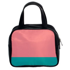 Flag Color Pink Blue Line Classic Handbags (2 Sides) by Alisyart
