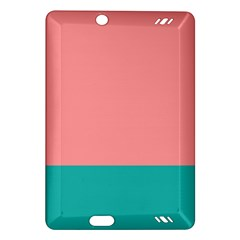 Flag Color Pink Blue Line Amazon Kindle Fire Hd (2013) Hardshell Case by Alisyart