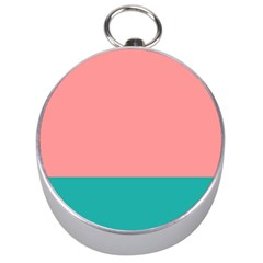 Flag Color Pink Blue Line Silver Compasses by Alisyart
