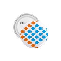 Fish Arrow Orange Blue 1 75  Buttons by Alisyart