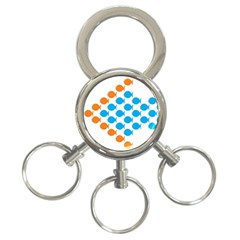 Fish Arrow Orange Blue 3 Ring Key Chains by Alisyart
