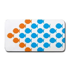 Fish Arrow Orange Blue Medium Bar Mats by Alisyart