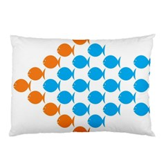 Fish Arrow Orange Blue Pillow Case (two Sides) by Alisyart